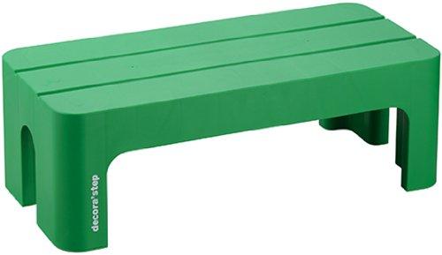 SANKA サンカ 踏台 ポリプロピレン デコラステップL グリーン 20cm DS-LG 1個