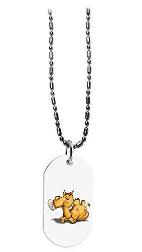 Hat Shark Pot Smoking Pals Funny Cute Camel Joint - 3D Color Printed Military Dog Tag, Luggage Tag Pendant Metal Chain Necklace