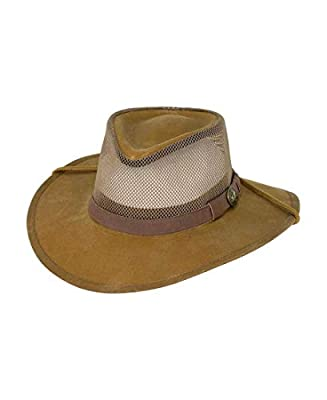2161ae6311c45 This men s Australian outback style hat is ideal for the African bush. It  has an elastic sweatband to wick moisture