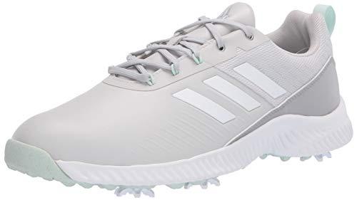 adidas Women's W Response Bounce 2 Golf Shoe, Grey Two/Grey Three/Dash Green, 5 Medium US