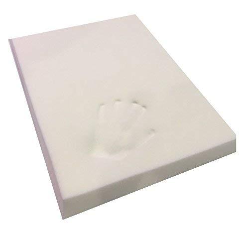 Espuma viscoelástica para camas y cojines de perros, espuma certificada, alivio de presión, sensible a la temperatura y alivio del dolor. 18 x 27 x 2 inches blanco