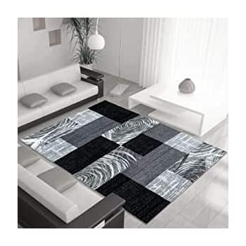 Modern Style Rug Abstract Design Black Grey Charcoal Rugs Living Room Extra Large Size Soft Touch Short Pile Carpet Area Rugs Non Shedding 120cm X 170cm 4ft X 6ft Amazon Co Uk Kitchen