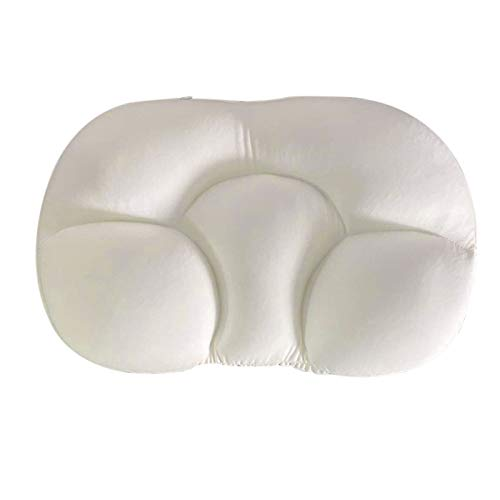 Acutty All-Round Sleep Pillow All-Round Clouds Pillow Nursing Pillow Sleeping Memory Foam Egg Shaped Pillows Sleep Pillow Cloud Pillow Deep Sleep Addiction 3D Ergonomic Pillow Washable (Weiß)