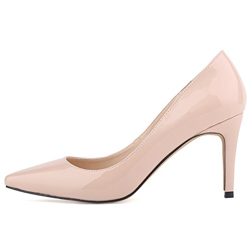 Renly Ni952-1, Damen Pumps, Pink - Aprikose - Größe: 37