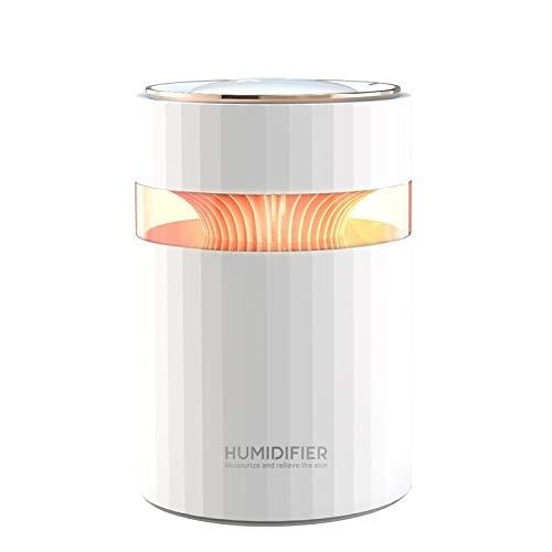 ZHLEYI Humidificadores de Aire Doble Boquilla USB Humidificador de Aire 900ml Capacidad de Agua Fresca Niebla Fabricante de Niebla con luz Nocturna Colorida ultrasónico humidificador (Color : White)