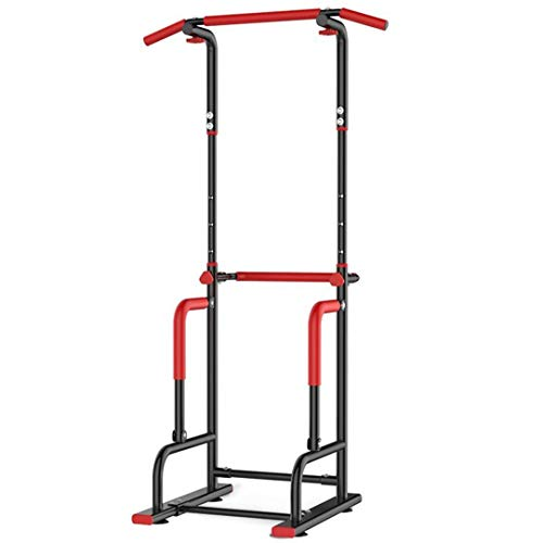 Dip Station Chin Up Bar Power Tower Pull Push Workout Equipment, Home Gym Fitness Core Strength Training (Black)