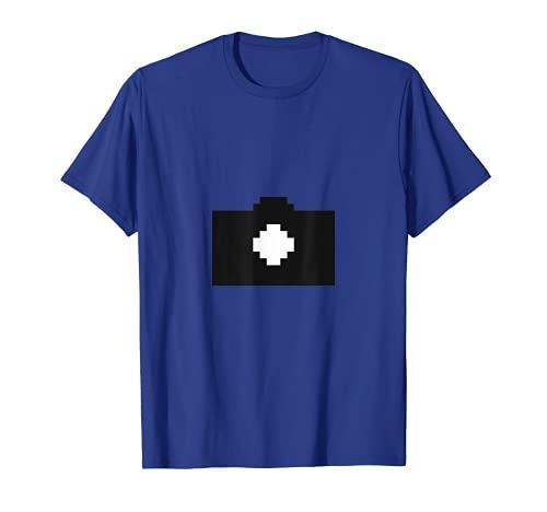 Fotografia della fotocamera Pixel Art Maglietta