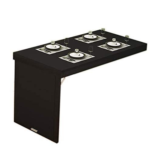SYJH Mesa Cocina Plegable, Mesa Plegable De Madera, Mesas Abatibles para Ahorrar Espacio, Mesa Cocina Pegada A La Pared(Color:Negro,Size:80×40×75cm)