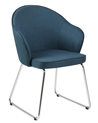 Amazon Brand - Movian Sils - Silla de comedor, 58,5 x 57 x 81,5 cm, azul
