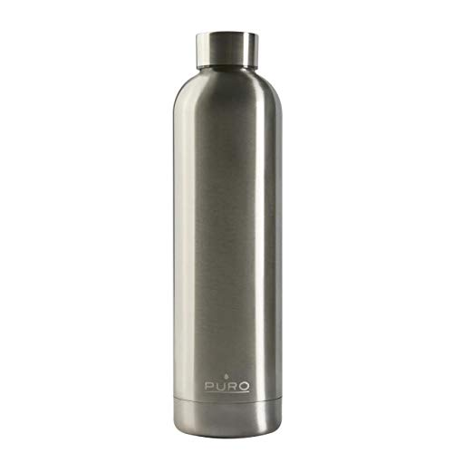 Thermosfles Puro Hot&Cold staal, 750 ml, Zilver.