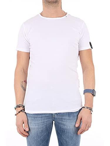 REPLAY M3590 Camiseta, Blanco (001 White), S para Hombre