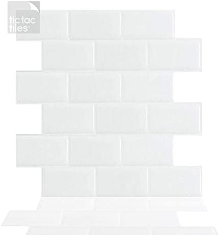 Tic Tac Tiles 5 Sheets 12 x 12 Peel and Stick Self Adhesive Removable Stick On Kitchen Backsplash product image