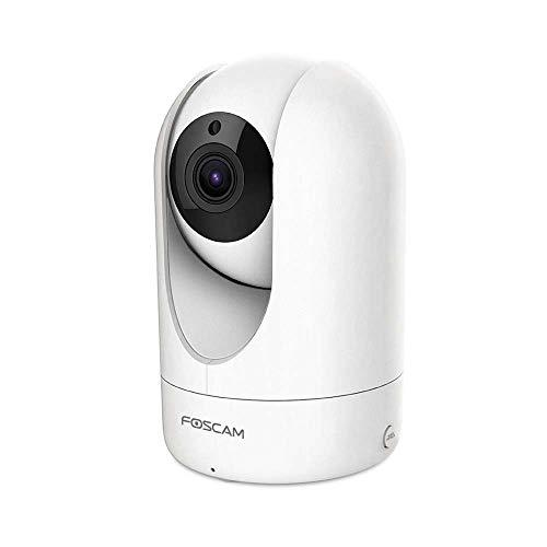Foscam R4M - Cámara de vigilancia (Super HD IP, WiFi, Doble Banda, con 4 MP y 10 m de visión Nocturna, WiFi, con detección de Movimiento, cámara de Audio de 2 vías con Ranura para Tarjeta microSD)