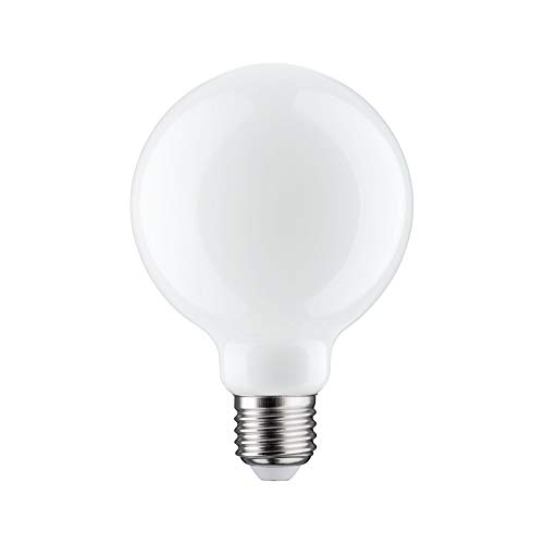 Paulmann 28702 LED Lampe Filament Globe 7,5 Watt Leuchtmittel dimmbar Opal 2700 K Warmweiß E27