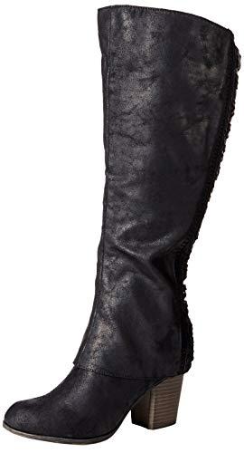 Fergalicious Women's Tender Wide Calf Knee High Boot, Black, 5.5 M US