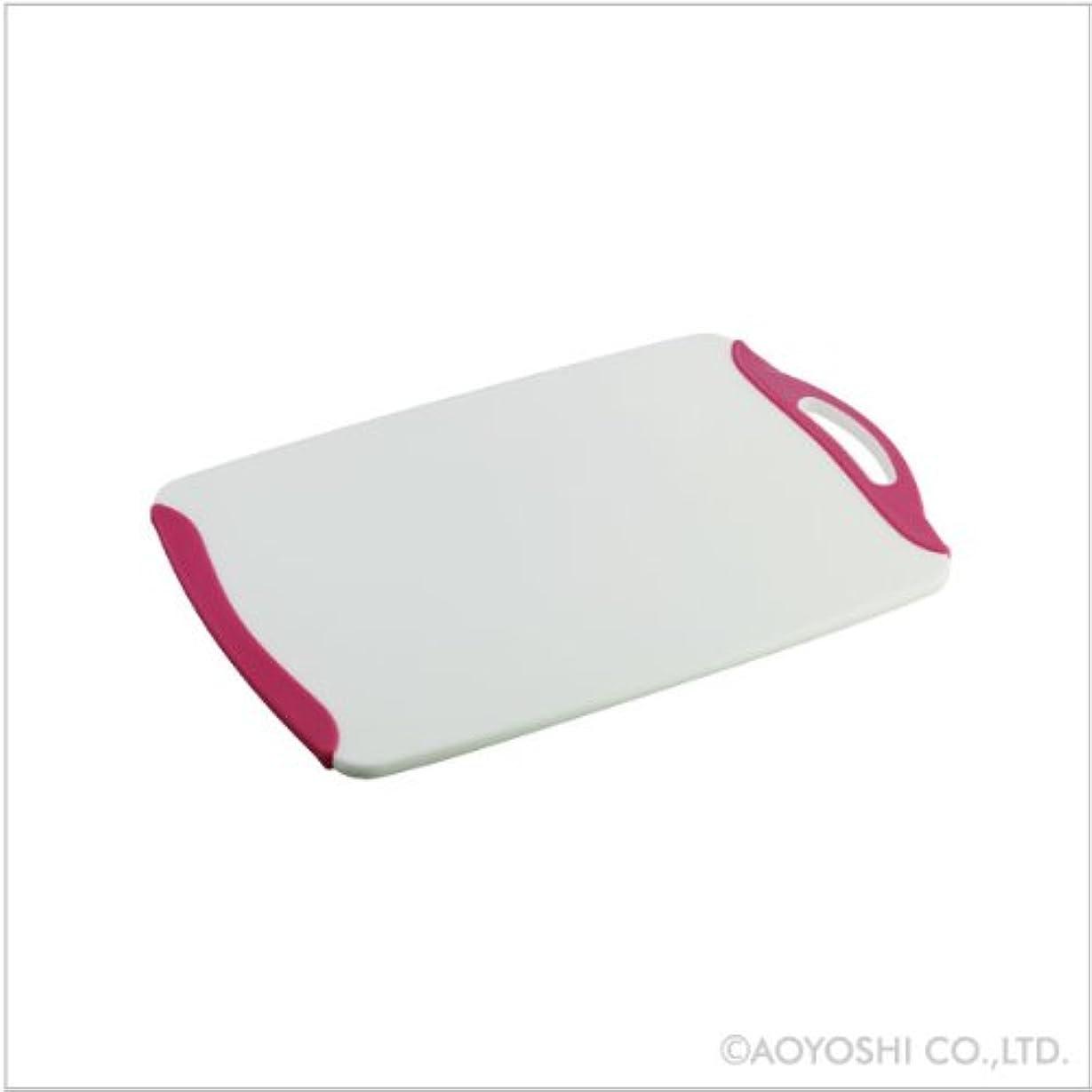 マイクロ望み徴収青芳 調理用まな板 ピンク W38×D24×H1.2cm
