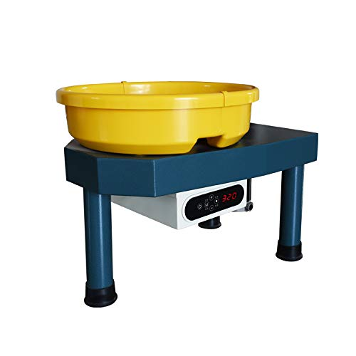 Huanyu Pottery Machine Ceramic Machine Pottery Wheel 350W 25CM Pottery Forming Machine with Foot Pedal and Snap-on Basin (110V, for Adults)