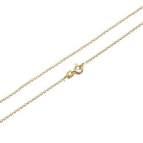 Collar italiano de cadena de plata de ley de 1,3mm chapado en oro - Libre de níquel - 14 -36pulgadas.