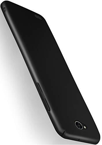 moex Alpha Hülle für LG X Power 2 Hülle Stoßfest & Leicht Handyhülle Extra Dünn, Super Slim Schutzhülle Ultra Air Hybrid PC Hardcase aus Kunststoff - Matt Schwarz