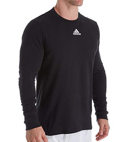 adidas EK02 S - Camiseta de manga larga para hombre, color negro