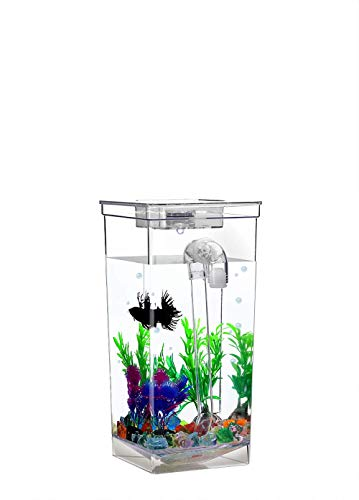 Mini Desk Self-Cleaning Fish Tank Goldfish Filter Tank for Office Home Décor