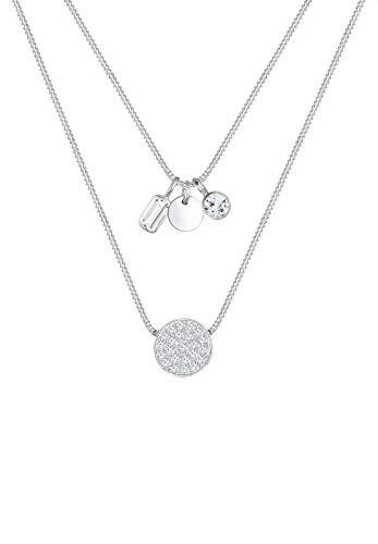 Elli Collar con colgante de mujer con plata, 40 cm