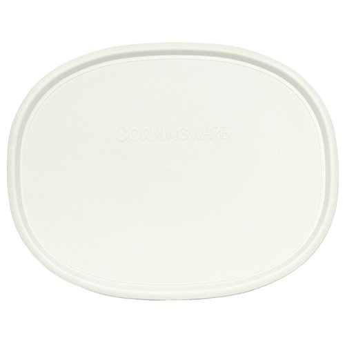 """Corningware F-2 Model Oval French White 2.5-qt or 1.5-qt-""""Shallow-ONLY"""" Lid -  1105816"""