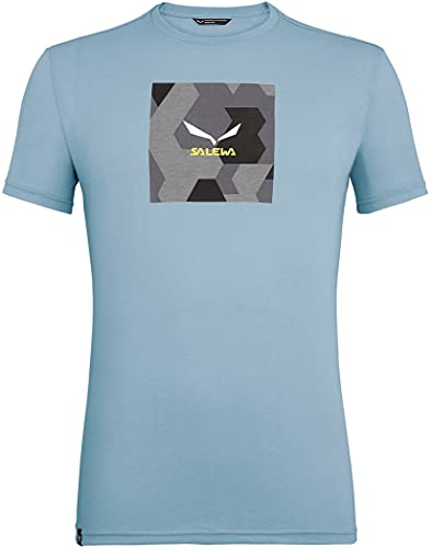 Salewa 00-0000027554_3866 T-Shirt Homme, Ombre Blue Melange, FR : XL (Taille Fabricant : 52/X-Large)
