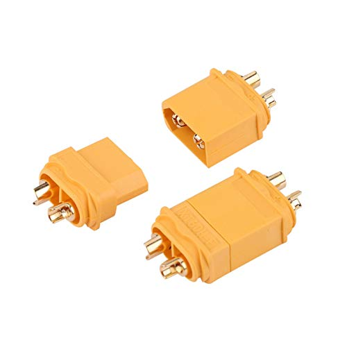 XT60-Stecker Kunststoff mit niedrigem Widerstand Feststoff Schwarz XT60-Stecker XT60-Stecker 10 Paare Hochstrom für ESC für Hochverstärkeranschluss für RC-Batterie