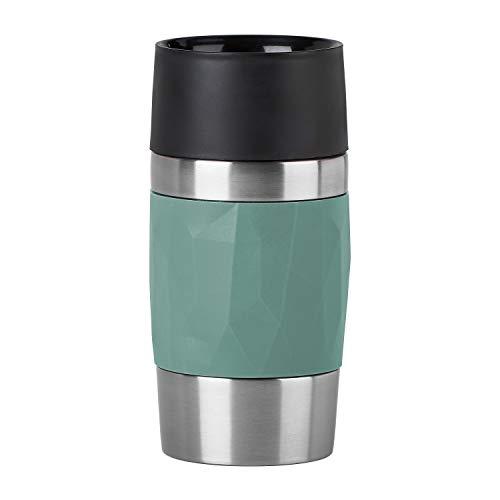 Emsa N2160300 Travel Mug Compact Thermo-/Isolierbecher aus Edelstahl | 0,3 Liter | 3h heiß | 6h kalt | BPA-Frei | 100% dicht | auslaufsicher | spülmaschinengeeignet | 360°-Trinköffnung | Grün