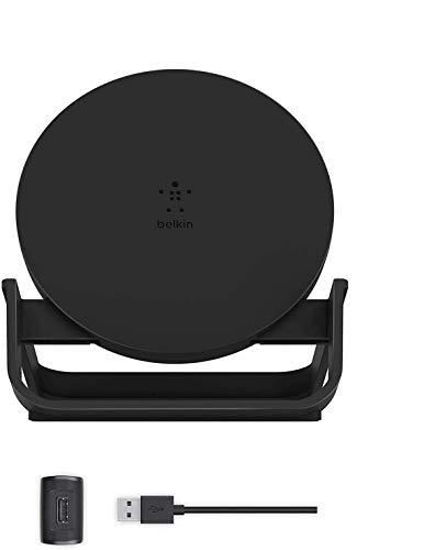 ベルキン ワイヤレス充電器 Qi認証 iPhone 11 / 11 Pro / 11 Pro Max / X / XR / XS / XS Max / 8 / 8 Plus 対応 5W 7.5W 10W 出力 充電スタンド ACアダプター付き ブラック
