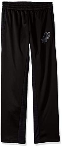 NBA by Outerstuff NBA Youth Boys San Antonio Spurs Defender Performance Pant, Black, Youth Small(8)