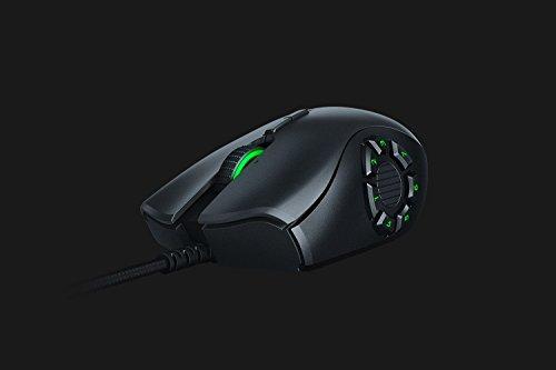 Razer Naga Trinity - Modulare kabelgebundene Gaming Maus mit austauschbaren Seitenteilen für MMO, MOBA oder FPS Games für PC / Mac (Optischer 5G-Sensor, 19 + 1 programmierbare Tasten) Schwarz