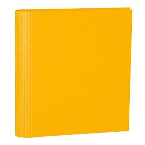 Semikolon (353298) Foto-Ordner 4 Ring sun (gelb) - Foto-Mappe zum Selbstgestalten mit Efalinbezug - Basis für Foto-Album oder Fotobuch