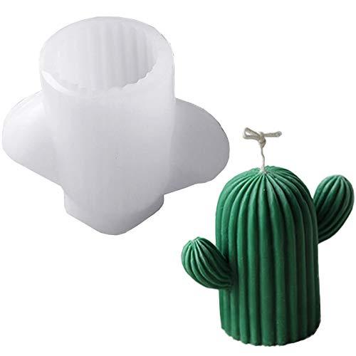 Tiruiya - Stampo per candele a forma di cactus, realizzato a mano, per realizzare candele, cioccolato, sapone, resina (cactus medio)