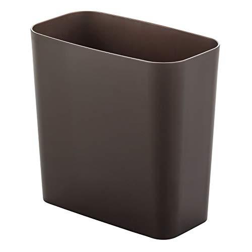 mDesign Elegante pattumiera differenziata – Moderno cestino spazzatura rettangolare per bagno, ufficio o cucina – Robusto cestino per raccolta plastica, carta e altri rifiuti – bronzo