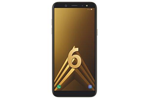 Samsung A6 Smartphone débloqué LTE (Ecran : 5,6 Pouces - 32 Go - Double Nano-SIM - Android) Or