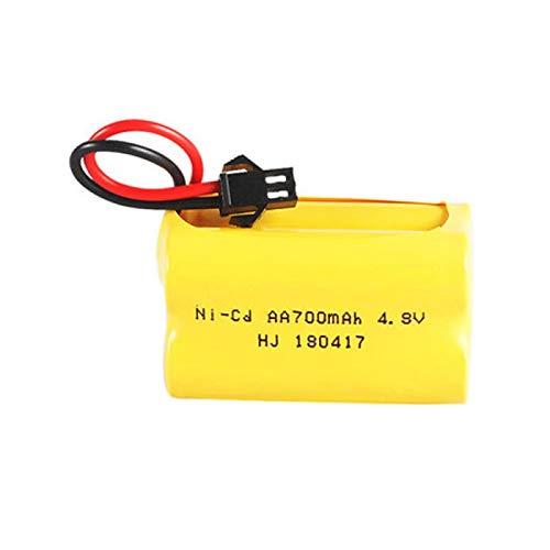 MeGgyc Batería de 4.8v 700mAh 4.8v Batería Recargable 4 * Paquete de baterías AA para Juguetes RC Barcos Coches Robots 3pcsB