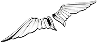 1 Pair Silver Angel Wings 3D Metal Car Auto Motorcycle Symobol Totem Emblem Badge Sticker Chrome Gold Black White Car Tuning Styling