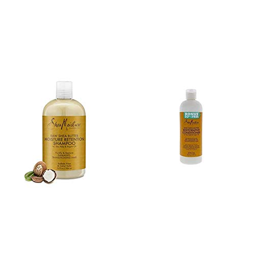 SheaMositure Shea Butter Retention Shampoo and Conditioner for Dry, Damaged, or Transitioning Hair