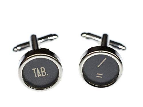 Miniblings Los Caracteres de tabulador + Caja de Gemelos de la máquina de Escribir Clave Negro