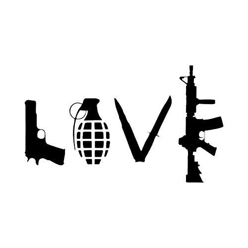 Outdoor schieten militaire voorraden auto stickers auto beeld ontwerp muurstickers csfssd (Size : Black)