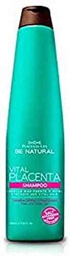 Be Natural Vital Placenta, Champú - 12 X 350 ml (Total: 4200 ml)