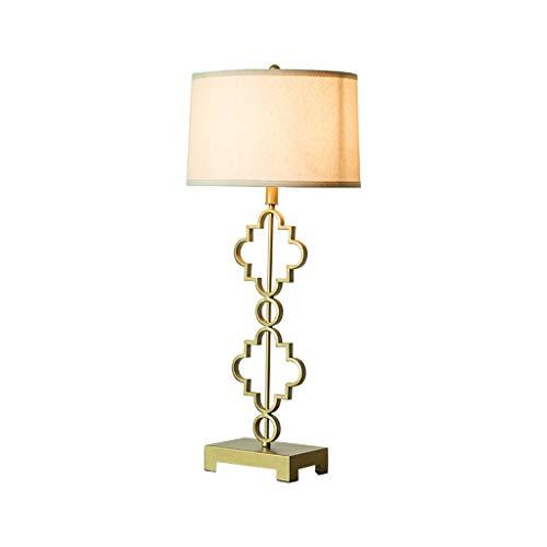 JTYP Tischlampe, Wohnzimmer Tischlampe Schlafzimmer Nachttischlampe Study Schmiedeeisen Retro alte Pflaume Tischlampe
