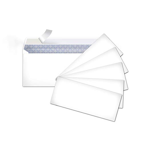 Amazon Basics #10 Security-Tinted Envelopes with Peel & Seal, White, 500-Pack