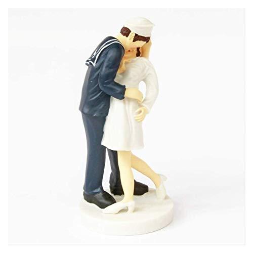 Escultura Marinero y esposa besando estatua artesanías creativas muñecas para el hogar decoración accesorios escritorio arte adornos decorativos coleccionables regalos figurines Manualidades
