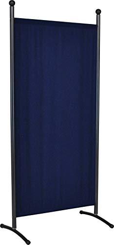 Angerer 606/04 Classic Stellwand eisengrau, Bezug Swingtex, marineblau