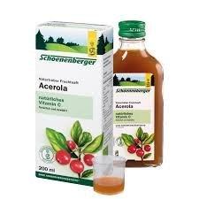 Naturtrüber Fruchtsaft Acerola, Kur-Set 6x200ml. Quelle für natürliches Vitamin C für eine normalen Funktion des Immunsystems. Gegen geschwollenen schwere, kribbelnde Beine.