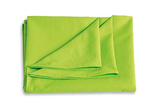 Qool24 Baumwollmischung Tagesdecke Überwurf Bettlaken in vielen Farben & Größen Grün 160 x 220 cm