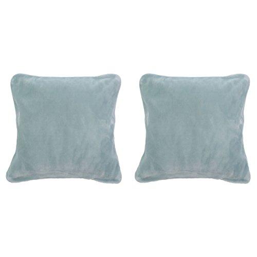 Gözze Premium Cashmere Kissenbezug, Polyester, Aqua, 50 x 50 x 5 cm, 2-Einheiten